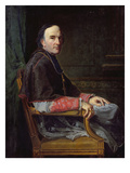 Georges Darboy (1813-71) Archbishop of Paris, 1878 (Oil on Canvas) Gicl&#233;e-Druck von Jean Louis Victor Viger du Vigneau