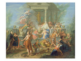 The Sacrifice of Iphigenia, C.1720-25 (Oil on Canvas) Giclee Print by Jacques Ignatius De Roore