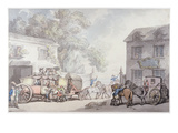 Travelling in France, C.1790 (Pen and Ink with W/C on Paper) Giclee Print by Thomas Rowlandson