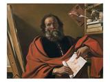St. Luke Lámina giclée por  Guercino