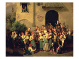 After School, 1844 (Oil on Canvas) Giclee Print by Ferdinand Georg Waldmuller