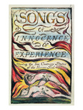Combined Title Page from &#39;Songs of Innocence and of Experience&#39;, Plate 2 of Bentley Copy L Reproduction proc&#233;d&#233; gicl&#233;e par William Blake