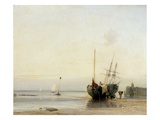 Calais Pier, C.1823-24 (Oil on Panel) Giclee Print by Richard Parkes Bonington