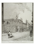 South West View of Bethlem Hospital and London Wall, 1814 (Etching) Giclee Print by John Thomas Smith
