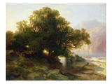 View of Lake Thuner, 1854 (Oil on Canvas) Giclee Print by Alexandre Calame
