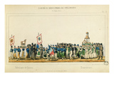 Procession of the Chair Manufacturers at Strasbourg, 25th June 1840 (Colour Litho) Giclee Print by Frederic Emile Simon