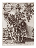 Charles I as Prince of Wales on Horseback, from 'The Book of Kings', 1618 (Engraving) Giclee Print by Renold Elstrack