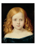 Portrait of the Artist's Daughter Premium Giclee Print by Charles West Cope
