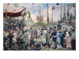 Study for 'Le 14 Juillet 1880', 1880-84 (Oil on Canvas) Giclee Print by Alfred Roll