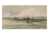 View of Sheerness (W/C over Graphite on Paper) Giclee Print by Francois Louis Thomas Francia
