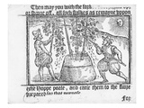 Hop Cultivation, from 'Vade Mecum, a Perfite Platform of a Hoppe Garden' by Reynolde Scot, 1576 Giclee Print by  English