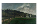 Banks of the River Marne in Winter, 1866 (Oil on Canvas) Giclee Print by Camille Pissarro