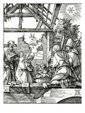 Nativity, from the Small Passion, 1510 (Woodcut) Giclee Print by Albrecht Dürer