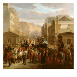 Descente De La Courtille', Belleville (Oil on Canvas) Giclee Print by Celestin Francois Nanteuil