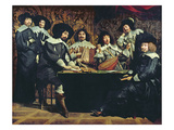The Academy, or the Amateurs' Meeting, C.1640 (Oil on Canvas) Reproduction procédé giclée par Mathieu Le Nain