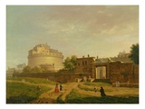Castel Sant'Angelo, Rome, 1776 (Oil on Canvas) Giclee Print by John Inigo Richards