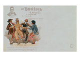 Commemorative Postcard of the Opera 'La Boheme', by Giacomo Puccini (1858-1924) (Colour Litho) Giclee Print by  Italian