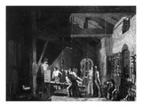The Forge, 1859 (Engraving) Giclee Print by James Sharples
