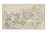 Selling of Cupids, C.1776 (Red and Black Chalk with Graphite on Paper) Giclee Print by Henry Fuseli