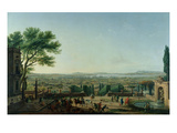 City and Port of Toulon, 1756 (Oil on Canvas) Giclée-Druck von Claude Joseph Vernet