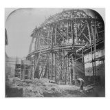 Construction of the British Museum Reading Room, 1854-57 (B/W Photo) Giclee Print by  English Photographer