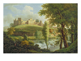 Ludlow Castle with Dinham Weir, from the South-West, c.1765-69 Giclee Print by Samuel Scott