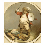 Falstaff with the Body of Hotspur, C.1786 (Oil on Paper) Giclee Print by Philip James De Loutherbourg