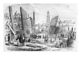 The New Victoria Dock Works, Plaistow Marches, Published in 'The Illustrated London News' Giclee Print by  English