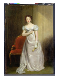 Harriet Smithson (1800-54) as Miss Dorillon, C.1822 (Oil on Panel) Giclee Print by George Clint