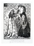 Titlepage Intended for 'The Early Italian Poets', 1861 (Engraving) Giclee Print by Dante Gabriel Rossetti