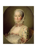 Portrait of the Marquise De Pompadour (1721-64) 1763 Giclee Print by Francois-Hubert Drouais