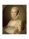 Portrait of the Marquise de Pompadour (1721-64) 1763 Impressão giclée premium por Francois-Hubert Drouais