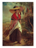 Working Girl, 1848 Premium Giclée-tryk af Johann Baptist Reiter