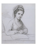 Self Portrait (Graphite on Laid Paper) Giclee Print by Angelica Kauffmann