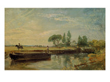 A Barge Below Flatford Lock, C.1810 (Oil on Canvas) Giclee Print by John Constable