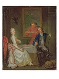 A Dinner Conversation (A Man and Woman Drinking at Supper) Premium Giclee Print by Marcellus the Younger Laroon