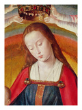 The Virgin Mary with Her Crown, Detail of the Coronation of the Virgin Giclee Print by  Master of Moulins