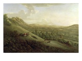 A View of Boxhill, Surrey, with Dorking in the Distance, 1733 (Oil on Canvas) Giclee Print by George Lambert