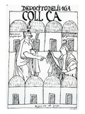 Inca Storehouses (Woodcut) Giclee Print by Felipe Huaman Poma De Ayala