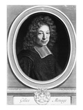 Gilles Menage, 1692, Engraved in 1698 by Pierre Louis Van Schuppen (1627-1702) (Engraving) Giclee Print by Roger de Piles
