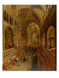 Interior of Canterbury Cathedral, C.1675-1700 (Oil on Canvas) Giclee Print by  English