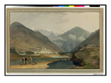 The Former Winter Capital of Bhutan at Punakha Dzong, 1783 (W/C on Paper) Giclee Print by Samuel Davis
