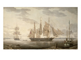 Ships in Harbour, 1805 Giclee Print by Robert Salmon