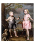 Lord John Hay and Charles, Master of Yester (Later Third Marquis of Tweeddale) C.1670 Giclee Print by Gerard Soest
