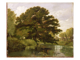 On the Isis, Waterperry, Oxfordshire, 1806 (Oil on Panel) Giclee Print by William Alfred Delamotte