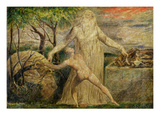 Abraham and Isaac, 1799-1800 (Tempera, Pen and Ink on Canvas) Lámina giclée por William Blake