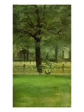 The Ladie's Mile, Kensington Gardens (Oil on Panel) Giclee Print by Paul Fordyce Maitland
