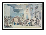 The Arrival of the Fire Engine (W/C, Pen and Ink, Pencil and Pastel on Paper) Giclee Print by Thomas Rowlandson