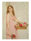 The Flower Seller, 1929 (W/C on Paper) Giclee Print by George Lawrence Bulleid