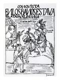 Sebastian De Benalcazar and Hernando Pizarro Confront Atahualpa Inca, Royal Baths in Cajamarca Giclee Print by Felipe Huaman Poma De Ayala